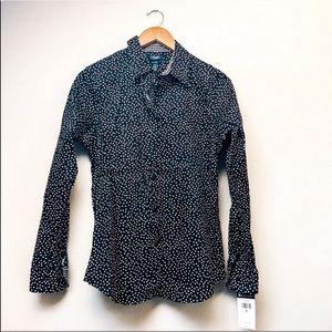 Polka Dot No-Iron Button-Down Shirt